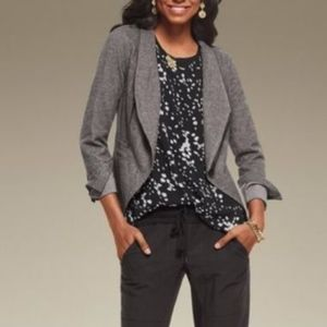 CAbi Rebel Asymmetrical Zip Up Ponte Knit Jacket for sale